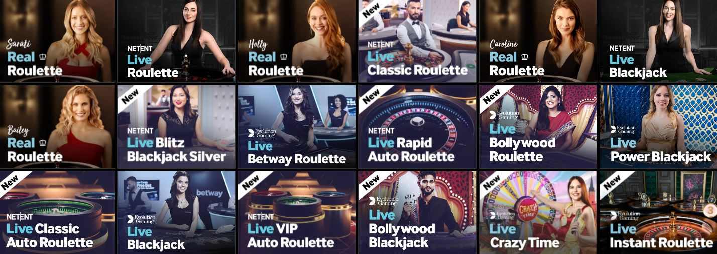 different live casino games in india